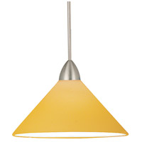 WAC Lighting MP-LED512-AM/BN Contemporary LED 5 inch Brushed Nickel Pendant Ceiling Light in Amber (Contemporary), Canopy Mount MP