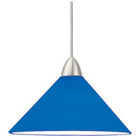 WAC Lighting MP-512-BL/BN Contemporary 1 Light 5 inch Brushed Nickel Pendant Ceiling Light in Blue (Contemporary), Canopy Mount MP