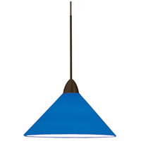 WAC Lighting MP-512-BL/DB Contemporary 1 Light 5 inch Dark Bronze Pendant Ceiling Light in Blue (Contemporary), Canopy Mount MP