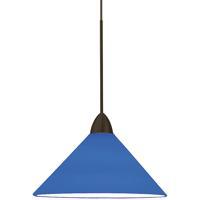 WAC Lighting MP-512-BL/DB Contemporary 1 Light 5 inch Dark Bronze Pendant Ceiling Light in Blue (Contemporary) Canopy Mount MP