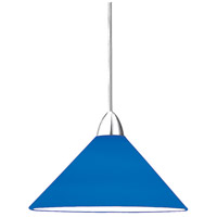 WAC Lighting MP-LED512-BL/CH Contemporary LED 5 inch Chrome Pendant Ceiling Light in Blue (Contemporary), Canopy Mount MP