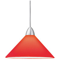 WAC Lighting MP-512-RD/BN Contemporary 1 Light 5 inch Brushed Nickel Pendant Ceiling Light in Red, Canopy Mount MP