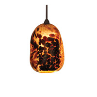 WAC Lighting Lava Pendant With Canopy Mount in Dark Bronze MP-620-BR/DB