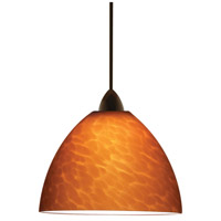 Contemporary LED 6 inch Dark Bronze Pendant Ceiling Light in Amber (Contemporary), Canopy Mount MP
