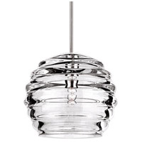 WAC Lighting MP-916-CL/CH Cosmopolitan 1 Light 6 inch Chrome Pendant Ceiling Light in Canopy Mount MP