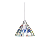 European LED 5 inch Brushed Nickel Pendant Ceiling Light in Quick Connect