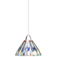 European LED 5 inch Chrome Pendant Ceiling Light in Canopy Mount MP