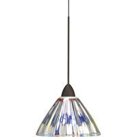 WAC Lighting MP-LED518-DIC/DB European LED 5 inch Dark Bronze Pendant Ceiling Light in Canopy Mount MP