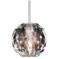 WAC Lighting MP-930-CL/BN Cosmopolitan 1 Light 4 inch Brushed Nickel Pendant Ceiling Light in Canopy Mount MP