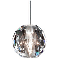 WAC Lighting MP-930-CL/CH Cosmopolitan 1 Light 4 inch Chrome Pendant Ceiling Light in Canopy Mount MP