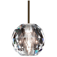 WAC Lighting MP-930-CL/DB Cosmopolitan 1 Light 4 inch Dark Bronze Pendant Ceiling Light in Canopy Mount MP