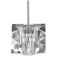 WAC Lighting MP-940-CL/BN Cosmopolitan 1 Light 5 inch Brushed Nickel Pendant Ceiling Light in Canopy Mount MP