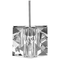 WAC Lighting MP-940-CL/CH Cosmopolitan 1 Light 5 inch Chrome Pendant Ceiling Light in Canopy Mount MP