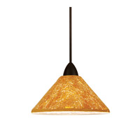 Artisan LED 5 inch Dark Bronze Pendant Wall Sconce Wall Light in Gold (Gia)