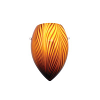 WAC Lighting Wall Sconce Glass Shade in Amber G-WS414-AM