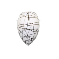 WAC Lighting Wall Sconce Glass Shade in Black/White G-WS415-BW