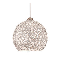 Cosmopolitan LED 8 inch Brushed Nickel Pendant Ceiling Light in Clear (Cosmopolitan), Quick Connect