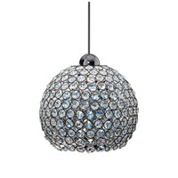 WAC Lighting MP-LED335-CL/CH Cosmopolitan LED 8 inch Chrome Pendant Ceiling Light in Clear (Cosmopolitan), Canopy Mount MP