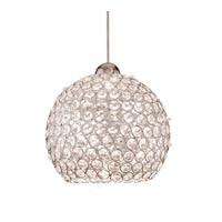 WAC Lighting QP335-CL/BN Cosmopolitan 1 Light 8 inch Brushed Nickel Pendant Ceiling Light in Quick Connect