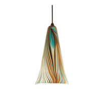 WAC Lighting MP-630LED-PK/DB Artisan LED 10 inch Dark Bronze Pendant Ceiling Light in Peacock, Canopy Mount MP
