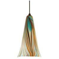 WAC Lighting MP-630-PK/DB Artisan 1 Light 5 inch Dark Bronze Pendant Ceiling Light in Halogen, Peacock, Canopy Mount MP