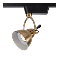 WAC Lighting Cartier LEDme 120V Track Luminaire in Satin Brass L-LED710S-WW-SB/BK