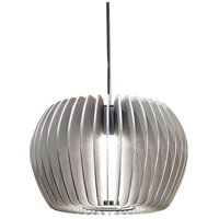 WAC Lighting MP-LED315-PT/CH Cosmopolitan LED 6 inch Chrome Pendant Ceiling Light in Platinum