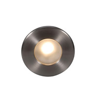 Outdoor Lighting 120V 3.9 watt Brushed Nickel Step Light, 3.50 inch