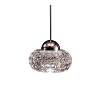 WAC Lighting Gem LED Monopoint Pendant Canopy Mount in Chrome and Clear Shade MP-LED334-CL/CH