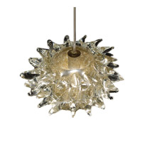 WAC Lighting Fugu Monopoint Pendant With Canopy Mount in Brushed Nickel and Gold Shade MP-924-GL/BN