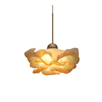 WAC Lighting Brittany LED Monopoint Pendant Canopy Mount in Brushed Nickel and Opaline Shade MP-LED333-OP/BN