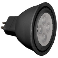 WAC Lighting MR16LED-BAB-BK Tyler LED MR16 MR16 8 watt 12V 3000K Bulb in Black