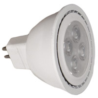 WAC Lighting MR16LED-BAB-WT Signature LED GY5.3 MR16 MR16 8 watt 12V 3000K Light Bulb in White