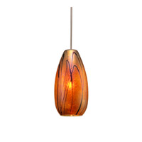WAC Lighting Willow Canopy Mount Monopoint Pendant in Chrome and Iridescent Shade MP-954-IR/CH