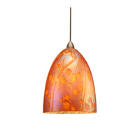 WAC Lighting Gingko LED Quick Connect Pendant in Brushed Nickel and Iridescent Shade QP-LED538-IR/BN