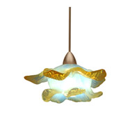 WAC Lighting Mini Brittany Quick Connect Pendant in Brushed Nickel and Opaline Shade QP533-OP/BN