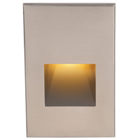 WAC Lighting Outdoor Lighting 120V 3.9 watt Brushed Nickel Step Light in Amber LED
