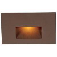 Outdoor Lighting 120V 3.9 watt Bronze Step Light in Amber, LED