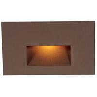 WAC Lighting WL-LED100-AM-BZ Outdoor Lighting 120V 3.9 watt Bronze Step Light in Amber, LED
