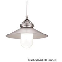 WAC Lighting MP-LED481-BN/BN Early Electric 10 inch Brushed Nickel Pendant Ceiling Light in Canopy Mount MP