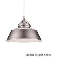 WAC Lighting MP-LED483-BN/BN Early Electric 9 inch Brushed Nickel Pendant Ceiling Light in Canopy Mount MP