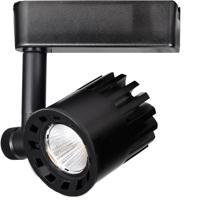 WAC Lighting H-LED20F-30-BK 120v Track System 1 Light 120V Black LEDme Directional Ceiling Light in 3000K 85 40 Degrees H Track