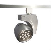 WAC Lighting H-LED27F-30-BN 120v Track System 1 Light Brushed Nickel LEDme Directional Ceiling Light in 3000K 45 Degrees H Track