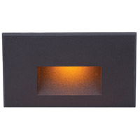 WAC Lighting WL-LED100F-AM-BK Outdoor Lighting 3.9 watt Black Step Light in Amber, 277, 1, LED, 6.62 inch