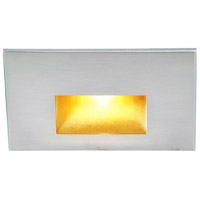 WAC Lighting WL-LED100F-AM-SS Outdoor Lighting 3.9 watt Satinless Steel Step Light in Amber, 277, 1, Stainless Steel, LED, 9.62 inch