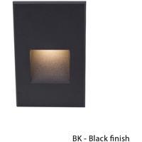 WAC Lighting WL-LED200F-RD-BK Outdoor Lighting 3.9 watt Black Step Light in Red 277 1 LED 55.62 inch
