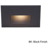 WAC Lighting WL-LED100-BL-BK Outdoor Lighting 3.9 watt Black Step Light in Blue 120 1 LED 1.62 inch