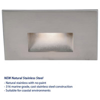 WAC Lighting WL-LED100-BL-SS Outdoor Lighting 3.9 watt Satinless Steel Step Light in Blue, 120, 1, Stainless Steel, LED, 4.62 inch