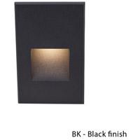 WAC Lighting WL-LED200-BL-BK Outdoor Lighting 3.9 watt Black Step Light in Blue 120 1 LED 35.62 inch