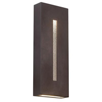 WAC Lighting dweLED Tao LED Outdoor Sconce in Bronze WS-W5318-BZ